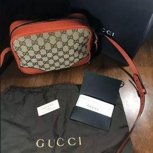 Gucci Bree Canvas Bag- Orange